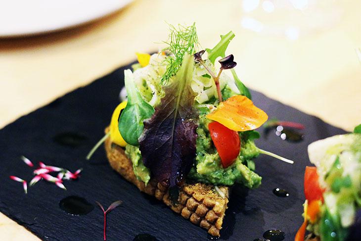 raw vegan avocado toast