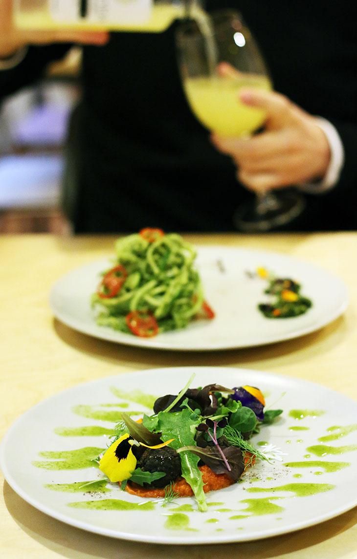 raw vegan restaurant main dish