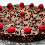 Raw Vegan Chocolate and Raspberry Cake   Tort raw vegan cu ciocolata si zmeura