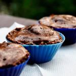 Raw Vegan Chocolate Ice Cream Cupcakes   Cupcakes raw vegane cu carob si ciocolata