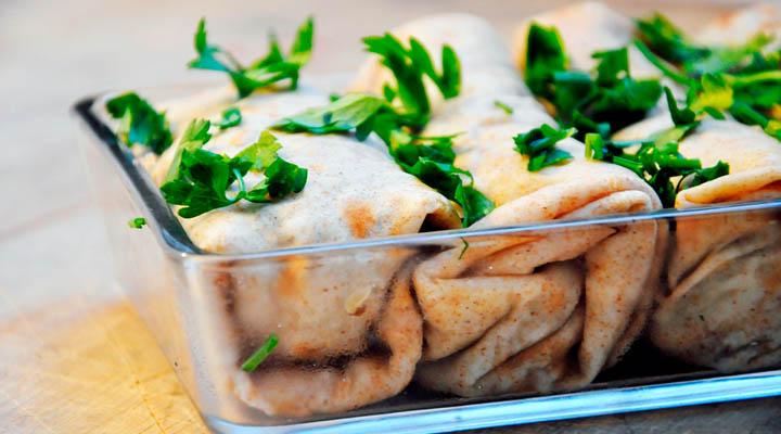 Mushroom Crepes with Vegan/Vegetarian Sauce