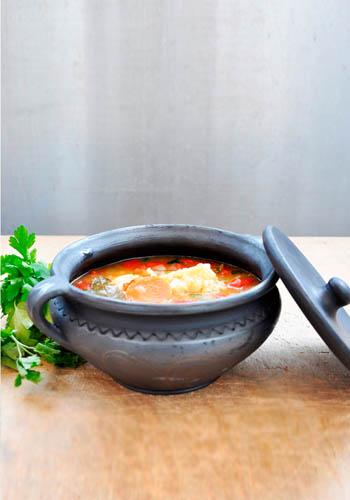 Vegetarian Hungarian Paprikás Vegetable Stew with Dumplings Parsley