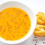 Potato and Carrot, Caraway Flavored Creamy Soup | Supa crema de cartofi cu chimen