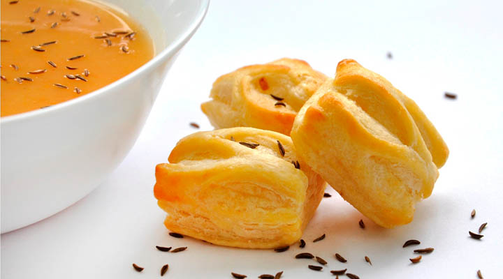 cream of potato soup Pastry Puffs