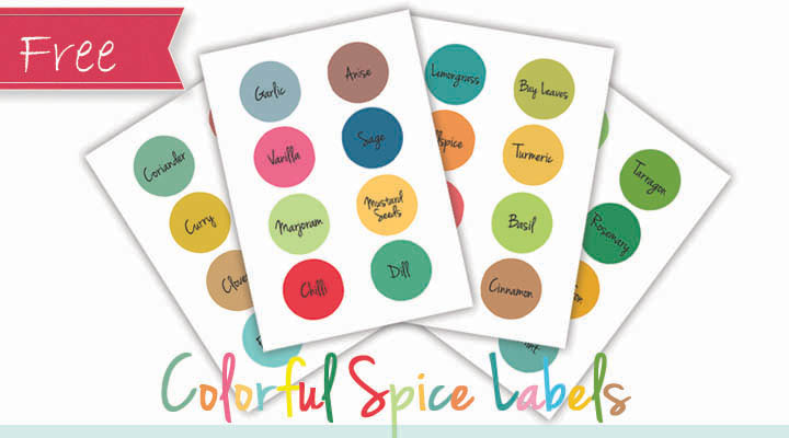 picture relating to Printable Spice Labels referred to as Colourful Spice Labels Absolutely free!