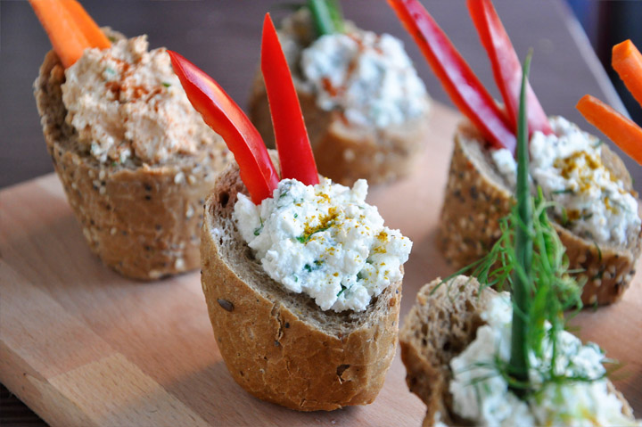 cream cheese dip cups Curry Cheese