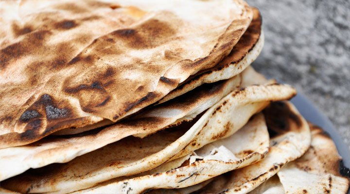 Crispy Pita Bread Cooked on Hot Wood Ash Zoom