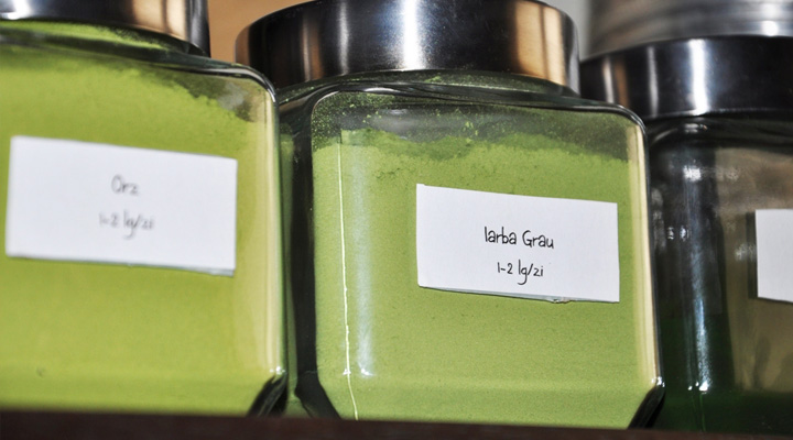 Green Herb Powders