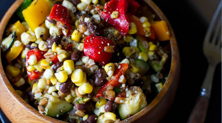 Long Weekend Grilled Veggie Salad