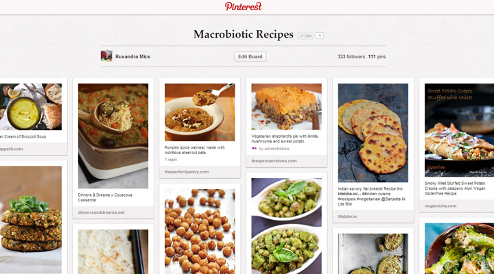 Macrobiotic recipes Pinterest Board Gourmandelle