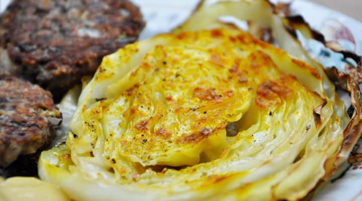 Oven Roasted Cabbage Side Dish | Varza la cuptor