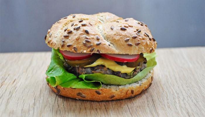 Vegetarian Azuki Beans Burger
