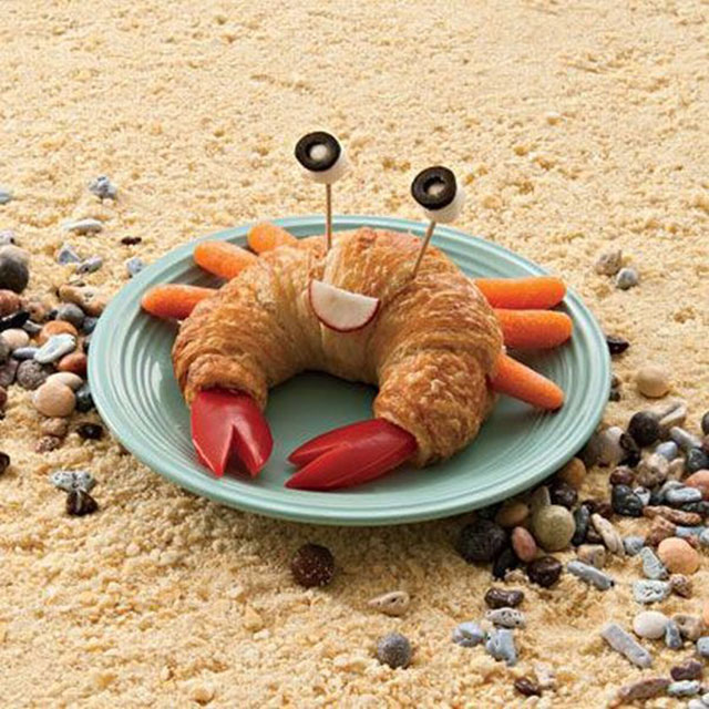 foods for kids croissant and fruits