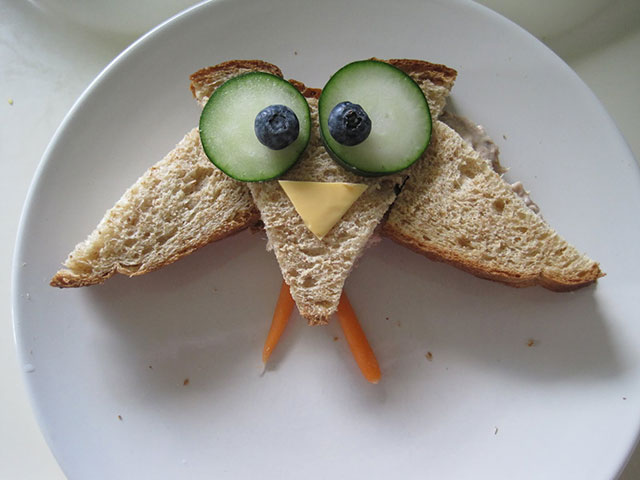 foods for kids owl sandwich