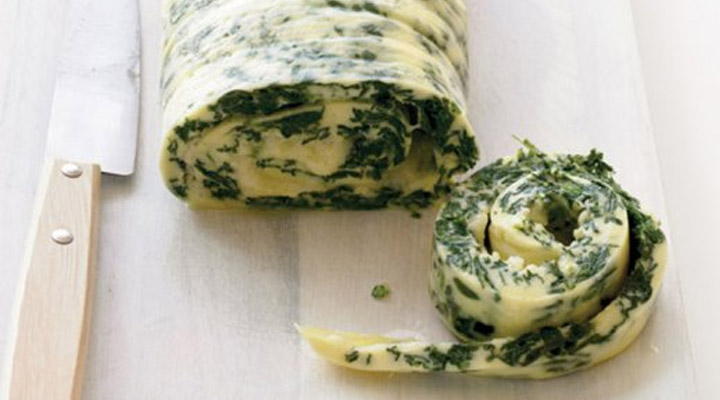 Healthy Egg Recipes for Breakfast - Rolled Omelet with Cheese and Herbs
