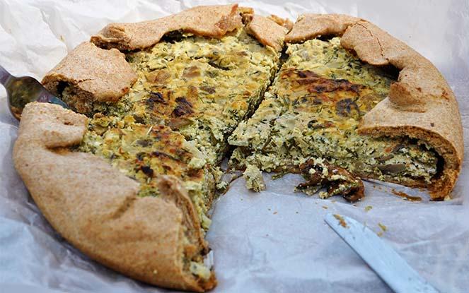 mushroom galette tart cheese