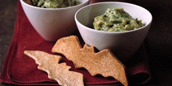 Guacamoldy with Creature Chips Vegetarian Halloween Recipes