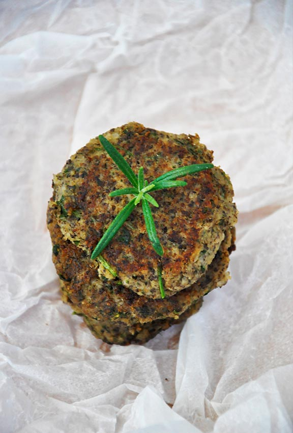 mushroom patties with Herbs recipe veg
