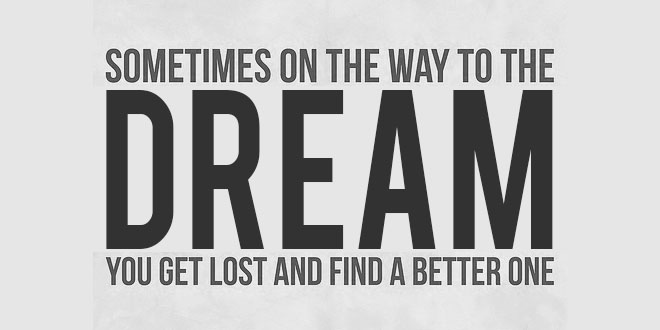 dream lost find better quote