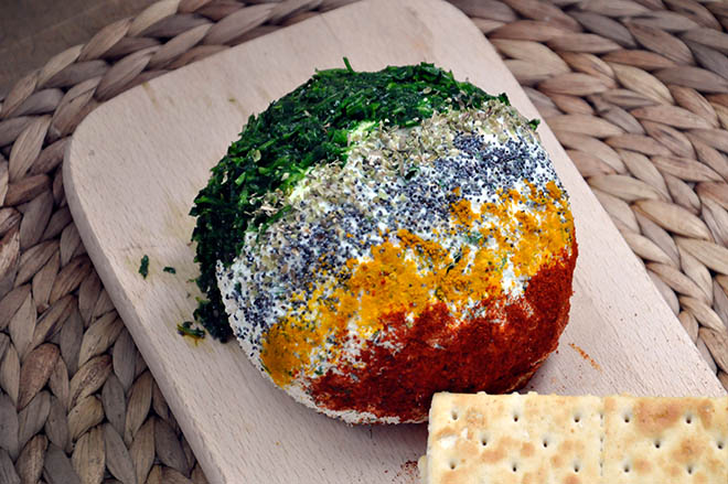 Ricotta Cheese Ball with Spices and Herbs party appetizer