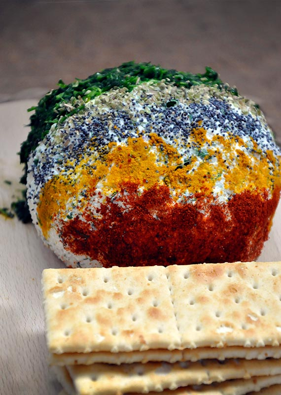 Ricotta Cheese Ball with Spices and Herbs