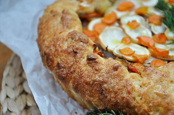root vegetable tart with Mushrooms Jamie Oliver crust