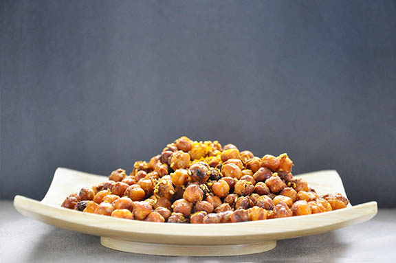 Spicy Oven-Roasted Chickpeas Snack