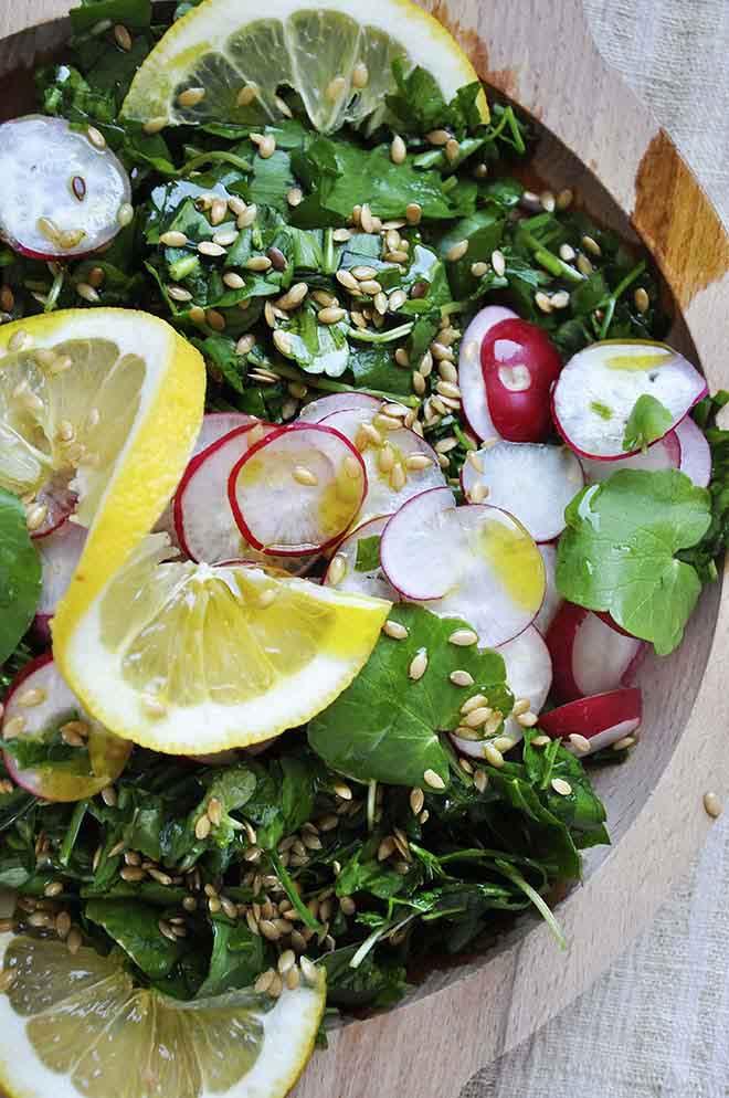 Spring Detox Salad hemp dressing