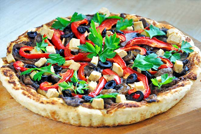 Gluten-Free Tart Veggies Mushrooms vegan