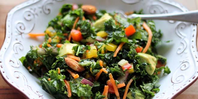 Kale Rainbow Detox Salad with Lemon Vinaigrette best detox recipes