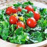Spring Watercress Salad Balsamic Vinaigrette Salata de untisor