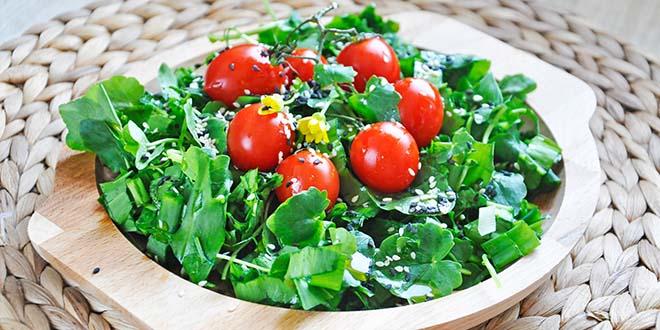 Spring Watercress Salad Balsamic Vinaigrette Salata de untisor