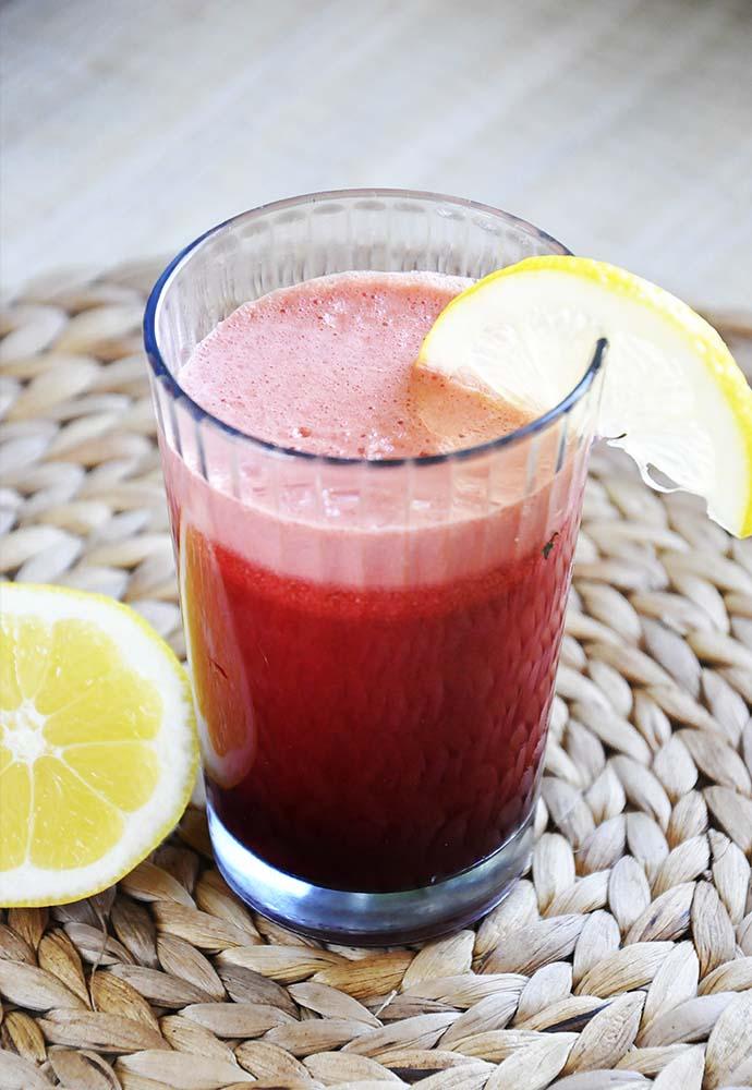 limonada roz cu sfecla si ghimbir