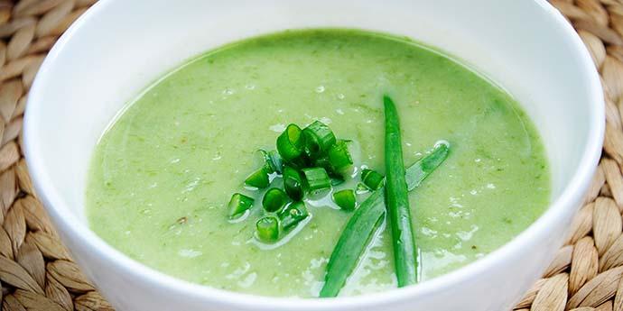Creamy Scallion Soup Supa crema de ceapa verde reteta