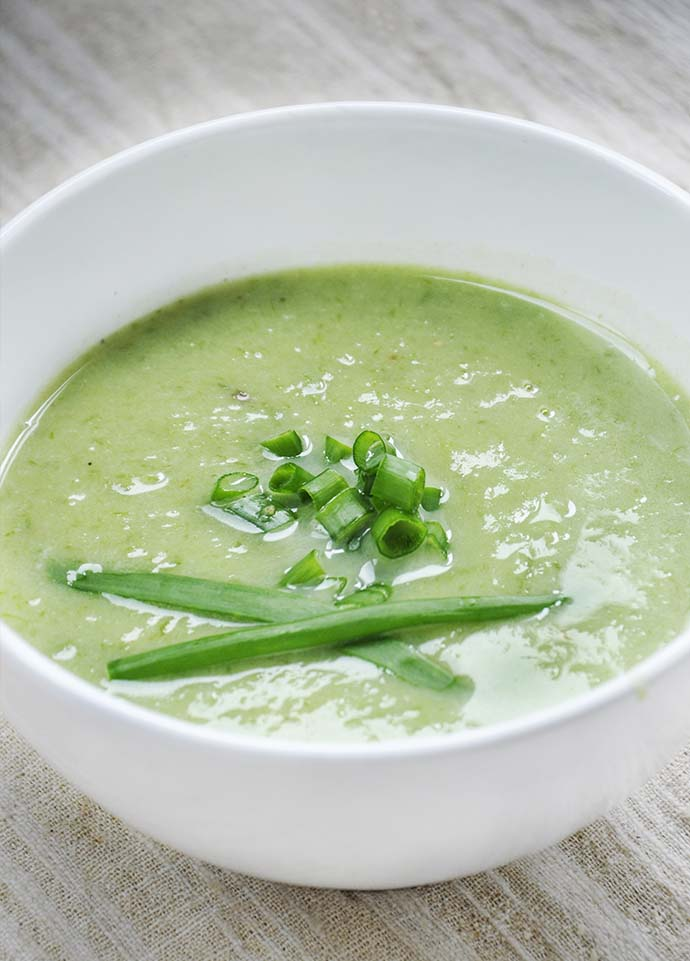 spring onion soup vegetarian