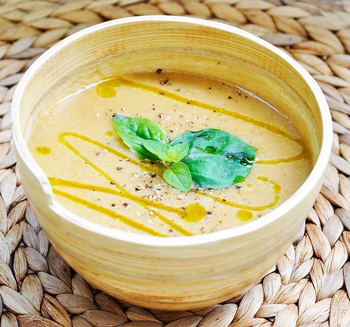 Creamy Sweet Potato Soup ginger supa crema de cartofi dulci ghimbir
