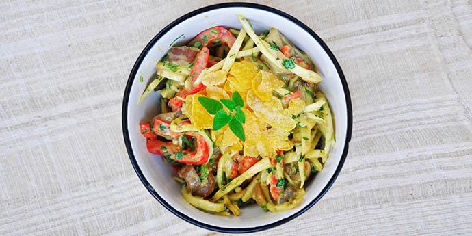 Celeriac Noodle Salad Avocado salata de telina maioneza avocado