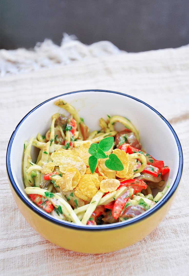 Celeriac Noodle Salad Avocado Vegan Salad Dressings