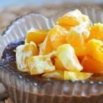 Raw Citrus Carob Pudding vegan Budinca de banane