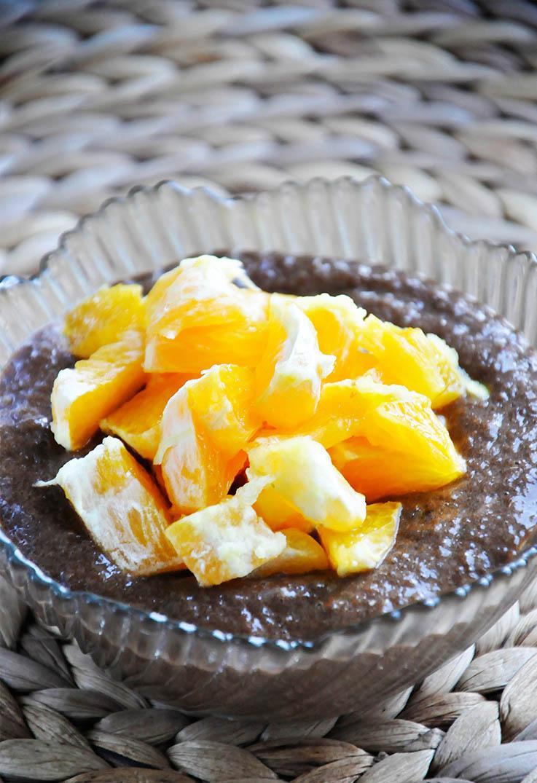 Raw Citrus Carob Pudding Budinca de banane