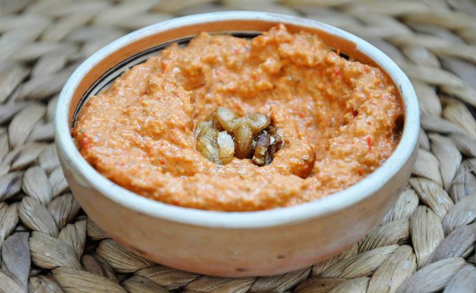 Muhammara Roasted Red Pepper Walnut Spread Crema de Ardei Copti Nuci syrian