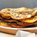 Gluten-Free Flatbread with Sesame Parathas Lipii fara gluten cu susan la tigaie