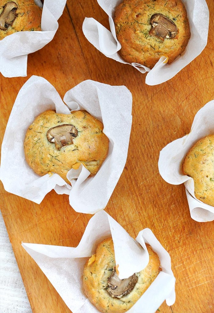Gluten-Free Savory Muffins with Mushrooms Briose sarate fara gluten cu ciuperci reteta