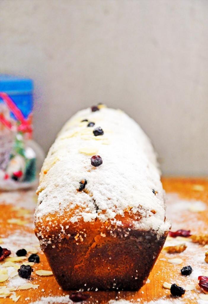 Gluten-Free Christmas Pound Cake Chec festiv fara gluten