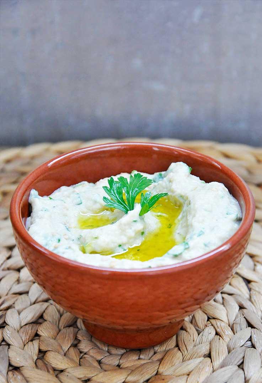 Baba Ganoush Tahini Eggplant Spread Salata de vinete cu tahini reteta