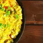 Curry Coconut Thai Rice with Peppers Orez Thailandez in Sos de Curry si Lapte Cocos