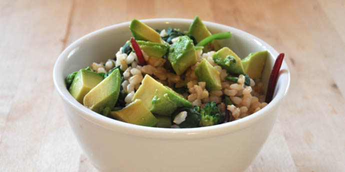 BROWN RICE GREEN BOWL macrobiotic breakfast