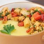 Best Creamy Polenta recipe tofu pepper saute mamaliga cremoasa sote tofu ardei