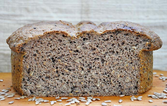 no knead Gluten-Free Rustic Bread Paine rustica fara gluten recipe section
