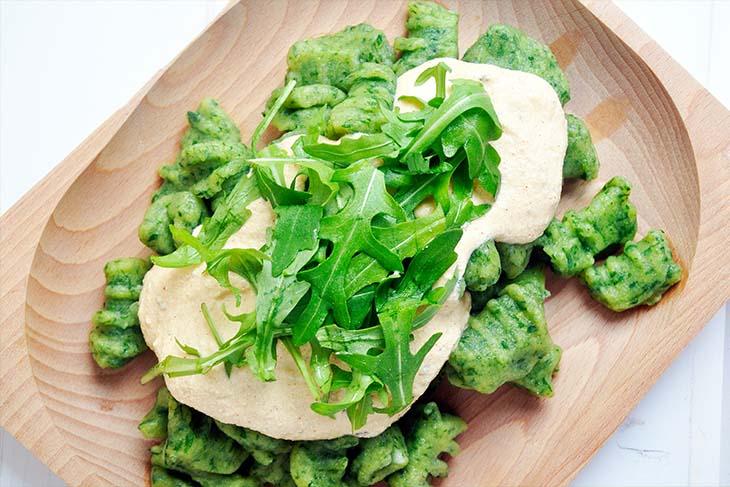 Green Vegan Gnocchi sauce